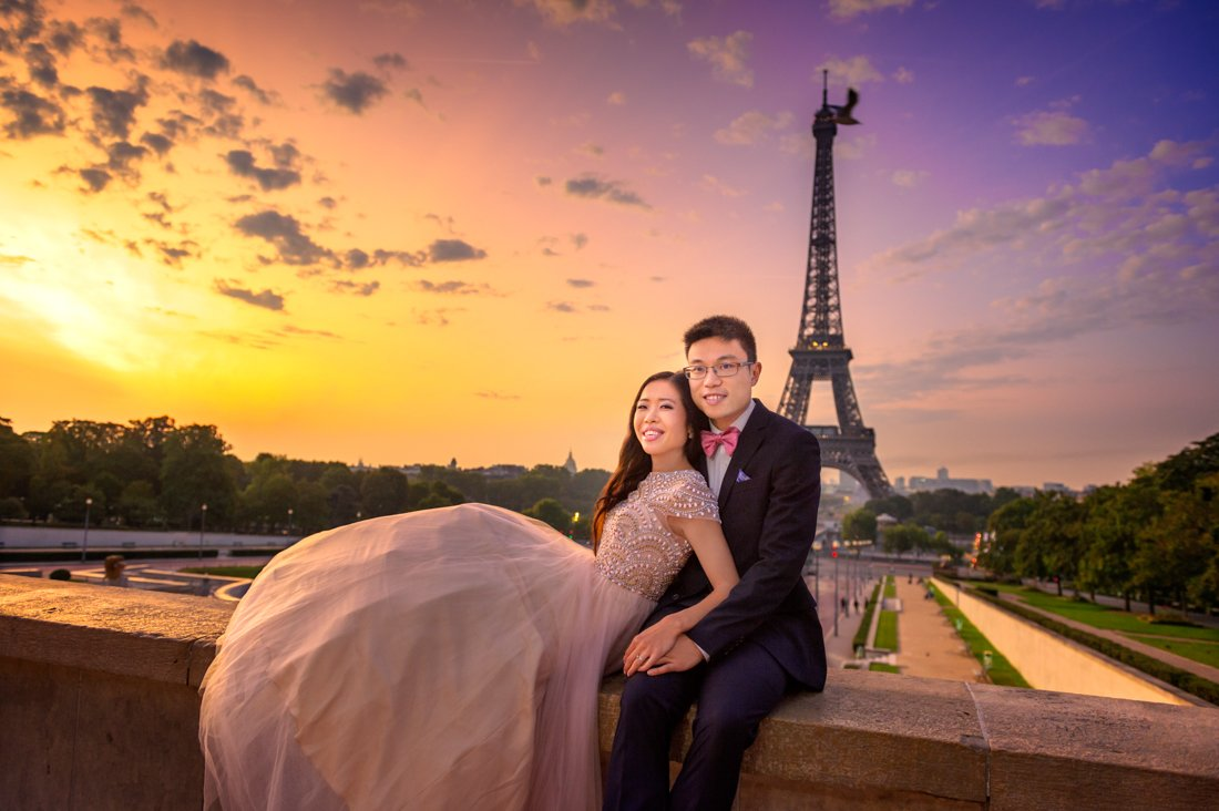 Trocadero is a top location for a Paris prewedding shoot
