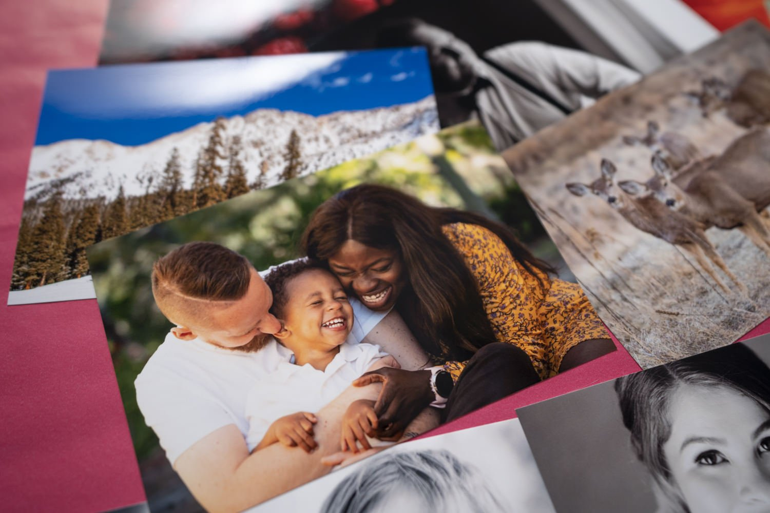 A bunch of photos printed at Harvey Norman
