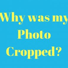 Why has my photo been cropped?