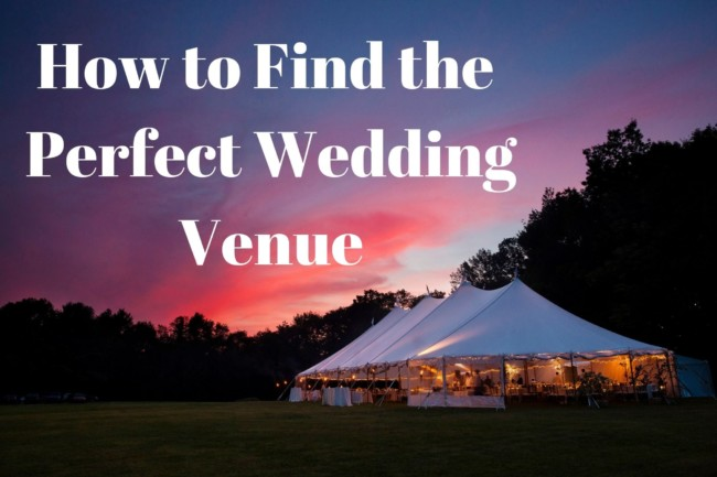How to find the Perfect Wedding Venue tittle page